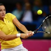 Jarmila Gajdosova was next up for the Aussies, taking on Julia Goerges at Porsche Arena in Stuttgart; Getty Images