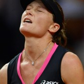 Stosur's frustration was visible as she was initially unable to shake her German opponent; Getty Images