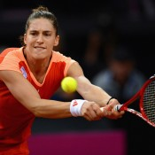 Andrea Petkovic was playing her first competitive match in three months after a back injury; Getty Images