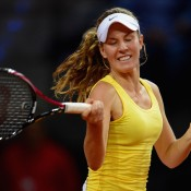 Olivia Rogowska made her Fed Cup debut for Australia in a dead singles rubber against Angelique Kerber; Getty Images