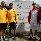 Davis Cup doubles line-up in Brisbane. Kim Trengove/Tennis Australia
