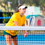 Isabelle Wallace at the Junior Fed Cup Asia/Oceania qualifying competition in Bendigo; Tennis Australia