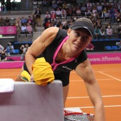 Sam Stosur prior to going into battle against Angelique Kerber; Tennis Australia