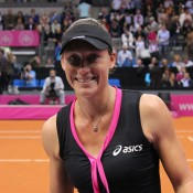 Sam Stosur following her defeat of Angelique Kerber; Tennis Australia