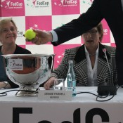 The Australia v Germany Fed Cup official draw takes place in Stuttgart; Tennis Australia