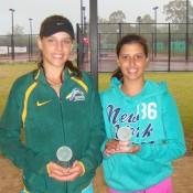 Aleksa Cveticanin from Queensland (left) and Jaimee Fourlis from Victoria