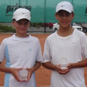 Kody Pearson from NSW (left) and Moerani Bouzige from QLD