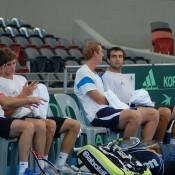 Davis Cup doubles practice: Australia v Korea
