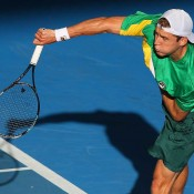Matthew Ebden at the Davis Cup tie in Brisbane against Korea: Getty Images