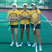 (L-R) Kimberly Birrell, Priscilla Hon and Sara Tomic at the World Junior Tennis Competition; Anthony Richardson