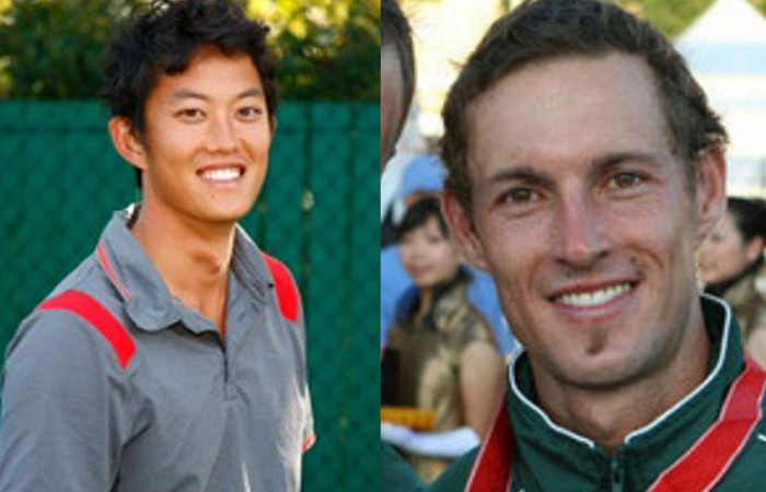 John Lui (L) and Glen Flindell will represent Australia in the tennis competition at the 7th Asia Pacific Deaf Games, to be held in Seoul, South Korea; Tennis Australia