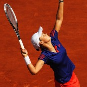Young Australian wildcard Ashleigh Barty made her Roland Garros debut on Day 3 on Court Suzanne Lenglen, going down 6-1 6-2 to No.4 seed Petra Kvitova; Getty Images