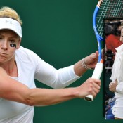 No.3: No tennis fashion gallery would be complete without the always adventurous Bethanie Mattek Sands. Her one-sleeve top is remarkably conservative in comparison to her tennis ball jacket, thankfully she didn't wear the latter on court.