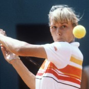 MARTINA NAVRATILOVA: WON 1981 AUSTRALIAN OPEN, 1982 ROLAND GARROS, 1982 WIMBLEDON; quarterfinals 1982 US OPEN – Coming into the US Open in 1982 as the top seed and with victories on clay and grass at the preceding majors, Navratilova looked poised to show her dominance on hardcourt as well when she coasted into the quarterfinals without the loss of a set. But there, she met regular doubles partner Pam Shriver – who was well-versed on the nuances of Navratilova's game – and despite taking the first set, Navratilova suffered a shock 1-6 7-6 6-2 defeat. In 43 career meetings between the pair, Navratilova won 40, and that US Open win would be the last Shriver would enjoy over her friendly rival; Getty Images
