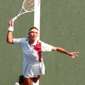 STEFFI GRAF: WON 1995 ROLAND GARROS, 1995 WIMBLEDON, 1995 US OPEN; did not play 1996 AUSTRALIAN OPEN – injury conspired against Graf at the beginning of 1996, keeping her out of the Australian Open in January and preventing a Grand Slam sweep. Pictured during her winning run at the 1995 US Open, she would go on to scoop the remaining majors of 1996, giving her six Grand Slam titles from six appearances; Getty Images