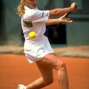 STEFFI GRAF: WON 1989 WIMBLEDON, 1989 US OPEN, 1990 AUSTRALIAN OPEN; final 1990 ROLAND GARROS – Graf came ever so close to winning four straight Grand Slam tournaments, a feat she had already achieved in 1998 and would later do so from 1993-94. Romping to the French final without losing a set, the top seeded Graf faced young upstart Monica Seles, aged just 16-and-a-half. Yet it was the then-Yugoslavian who handled the occasion and conditions better, defeating the mighty Graf 7-6(6) 6-4. Seles had only ever beaten Graf once before – just a few weeks earlier in the final of the Berlin tune-up event – but it would prove to be a valuable confidence booster, and clearly left the German feeling slightly vulnerable when they clashed in the Paris final; Getty Images