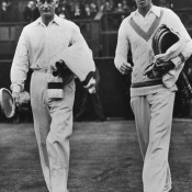 No.9: Gentleman Jack Crawford (left) and Ellsworth Vines look like they're ready to play Test cricket, not tennis.