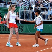 After winning the Longines Future Aces tournament final, Australian Destanee Aiava enjoyed the opportunity to hit with tennis legend Steffi Graf in an exhibition event at Roland Garros; Longines
