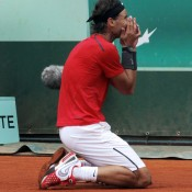 When play resumed in Paris at 1pm on Monday, Nadal needed just 49 minutes to recover from a break down and go on to win his 7th French Open title, surpassing clay legend Bjorn Borg's tally of six Roland Garros crowns; Getty Images