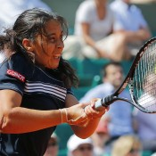 Marion Bartoli was the next biggest seed to fall after Williams, the 2011 semifinalist struggling throughout her three set loss in the second round to Petra Martic of Croatia; Getty Images