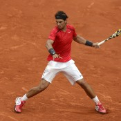 Gone are the muscle shirts and pirate pants of years gone by - nowadays defending French Open champ Rafael Nadal prefers to go for simple, classic clothing options on the tennis court, such as this classy Nike outfit; Getty Images