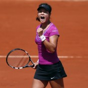 French Open defending champion Li Na has looked excellent on court at this event, and also in her form-fitting two-piece Nike outfit. Variations on this ensemble are also being worn by No.4 seed Petra Kvitova and Italian Sara Errani, both still alive in the women's draw; Getty Images