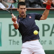 Novak Djokovic has recently switched to Japanese clothing brand Uniqlo after years wearing Italian brand Sergio Tacchini. The Serbian will have design input into his Uniqlo outfits, and can be seen here in a smart fitted navy-and-white combination; Getty Images