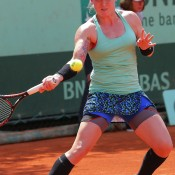 Known for her outlandish tennis outfits, American Bethanie Mattek-Sands took a slightly more demure approach at this year's French championships, although unique touches such as her trademark knee socks and loudly-patterned skirt remain. She ousted No.12 seed Sabine Lisicki in the opening round; Getty Images