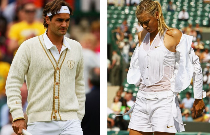 No.6 Formal wear found its way onto the tennis court at Wimbledon 2008. Roger Federer's cardie was more preppy than sporty, while Maria Sharapova's tuxedo top allowed the Russian superstar to go straight from the court to formal engagements without needing to change her clothes.