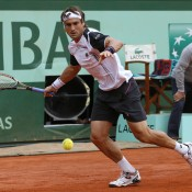 David Ferrer had no answers to the Rafael Nadal onslaught during the men's semifinals at the French Open on Friday; Getty Images