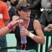 Australia's Samantha Stosur drinks during her third round match against Russia's Nadia Petrova at the French Open tennis tournament at the Roland Garros stadium, on June 1, 2012 in Paris; Getty Images