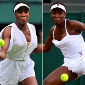 No.4: Venus Williams has worn some adventurous outfits during her colourful career and she has even managed to turn heads with her attire at Wimbledon.