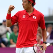 Unfortunately for Tomic, No.15 seed Kei Nishikori proved too strong in the opening round of the men's singles at the London 2012 Olympics, winning in two tiebreaks; Getty Images