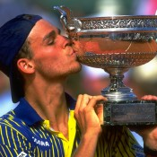 Brazilian Gustavo Kuerten burst onto the tennis scene in 1997, when, ranked No.66, he spectacularly triumphed at the French Open; Getty Images
