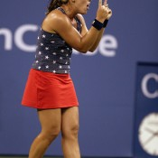 Capriati let her emotions get the better of her in the 2003 US Open semifinals against eventual champion Justine Henin-Hardenne, falling in a glorious three-hour match that many pundits have hailed the best women's match of all time; Getty Images