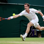 Andy Murray fought valiantly in the Wimbledon men's final against Roger Federer, taking the first set; Getty Images