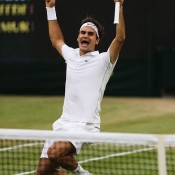 Ultimately, Roger Federer had too many weapons in the men's final against Scot Andy Murray, celebrating his seventh Wimbledon crown after a 4-6 7-5 6-3 6-4 win; Getty Images