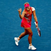 Ranked outside the top 100 this time last year, Angelique Kerber has been the biggest improver in women's tennis in the past 12 months. Here she celebrates one of the biggest wins of her career over Serena Williams in the Cincinnati quarterfinals; Getty Images