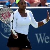 The hottest player on tour coming into the Cincinnati event, Serena Williams looked out of sorts all week in Ohio, scratching, clawing and willing her way into the quarterfinals. Despite trying to steady herself, Angelique Kerber proved too tough, ending Williams' 19-match winning streak in the final eight; Getty Images