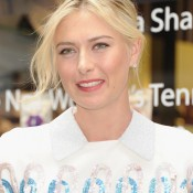 NEW YORK, NY - AUGUST 20:  Professional Tennis Player Maria Sharapova appears for her Sugarpova candy launch at Henri Bendel on August 20, 2012 in New York City.  (Photo by Michael Loccisano/Getty Images)