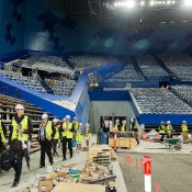 A site inspection of the new Perth Arena, to be the new home of the Hopman Cup from 2013; Credit: Jody D'Arcy