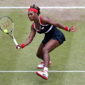 Serena Williams competes in red, white and blue for the United States; Getty Images