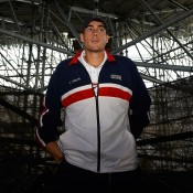 John Isner of the United States looks on during Day 3 of the Davis Cup semifinal between Spain and the US at the Parque Hermanos Castro in Gijon, Spain. Isner's four set loss to David Ferrer in the fourth rubber sealed a 3-1 victory for the home side; Getty Images