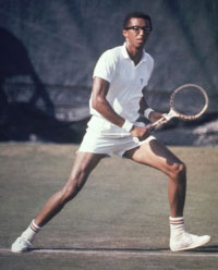 Arthur Ashe. GETTY IMAGES