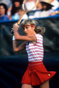 Chris Evert. GETTY IMAGES