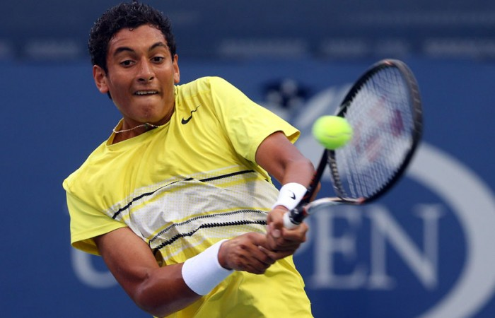 Nick Kyrgios competes at the 2012 US Open in Flushing Meadows, New York; Getty Images