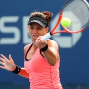 Casey Dellacqua made short work of her first round match at Flushing Meadows on Day 1, brushing aside qualifier Lesia Tsurenko of Ukraine 6-2 6-3; Getty Images