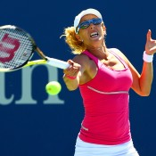 Anastasia Rodionova bumped into the in-form No.31 seed Varvara Lepchenko in the second round, and was bundled out the event by a scoreline of 6-2 6-2; Getty Images