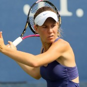 Wildcard Olivia Rogowska battled hard against Mandy Minella of Luxembourg before going down 6-2 3-6 6-3; Getty Images