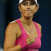 After coming through three qualifying matches in straight sets, Anastasia Rodionova continued on her roll going, downing American wildcard Julia Cohen 6-3 6-0; Getty Images
